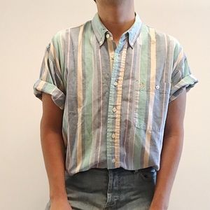 Pastel stripped button up
